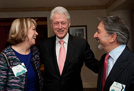 The Honorable Cecelia Morris & Andrew Brozman with President Clinton prior to the start of the program, April 14, 2015